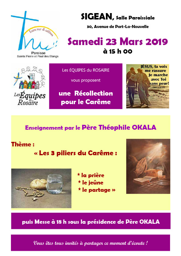 23-03-2019 Recollection du Careme
