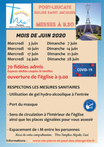 Port-Leucate, Messe de semaine @ Eglise Saint Jacques